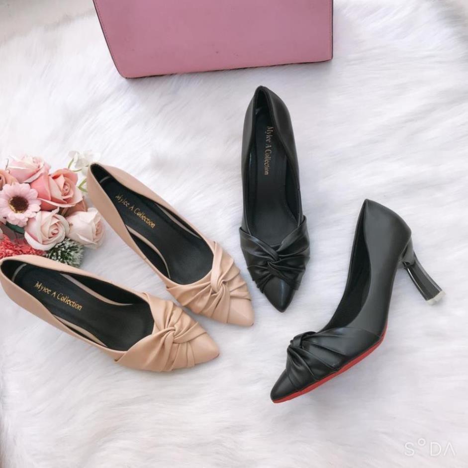 Giày cao gót 💥HÀNG HOT💥giày cao gót nữ 7 cm cách điệu êm mềm, chống trượt