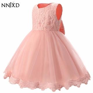 NNJXD Đầm Xòe Công Chúa Phối Ren Cho Bé Gái