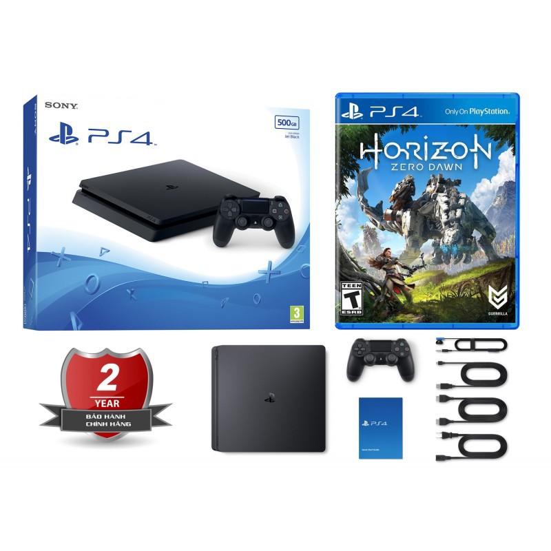 Combo Playstation 4 PS4 Slim 1TB chính hãng Sony VN + Horizon Zero Dawn (BH 1 năm)