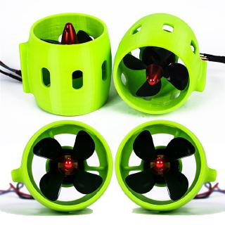For ROV RC Bait Tug Boat 12V-24V 20A Underwater Thruster Motor 4 Blades Propeller Propulsion 30-200W Part