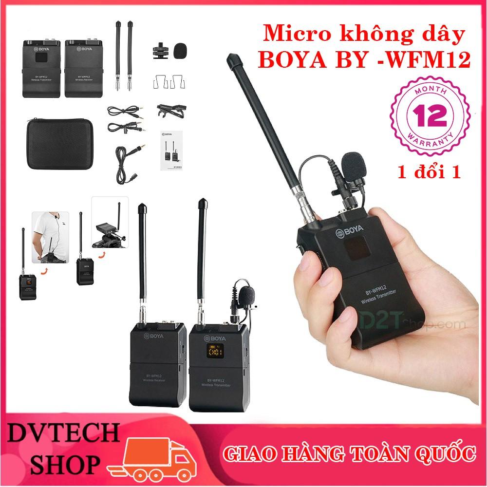 Micro thu âm không dây Boya BY-WFM12 cho điện thoại, máy ảnh DSLR, bản nâng cấp của Boya WM4 Mark II - 21665314 , 1921235678 , 322_1921235678 , 1650000 , Micro-thu-am-khong-day-Boya-BY-WFM12-cho-dien-thoai-may-anh-DSLR-ban-nang-cap-cua-Boya-WM4-Mark-II-322_1921235678 , shopee.vn , Micro thu âm không dây Boya BY-WFM12 cho điện thoại, máy ảnh DSLR, bản