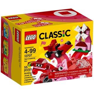 Hộp LEGO Classic Lắp Ráp Màu Đỏ 10707