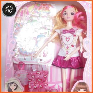 Siêu rẻ ! Búp bê công chúa thay váy kèm nhiều phụ kiện
