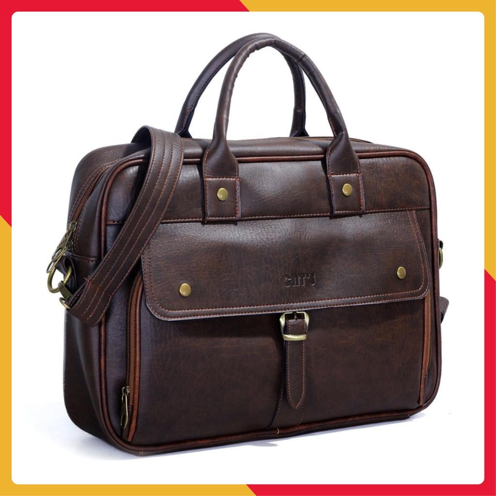 Túi đựng laptop, cặp da nhiều ngăn, túi công sở cao cấp hàng chính hãng