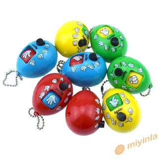 Đồ chơi bao kéo đá dạng nút nhấn hình quả trứng có móc khóa dành cho gia đình