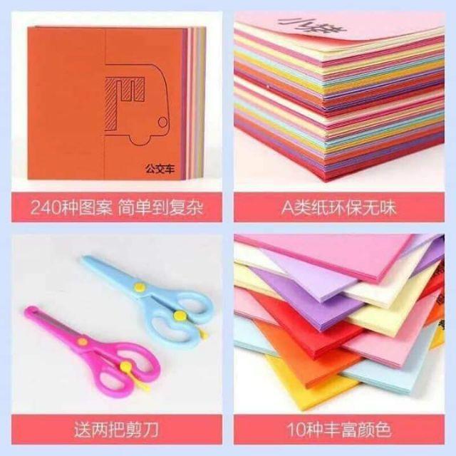 Bộ kéo và giấy tập cắt