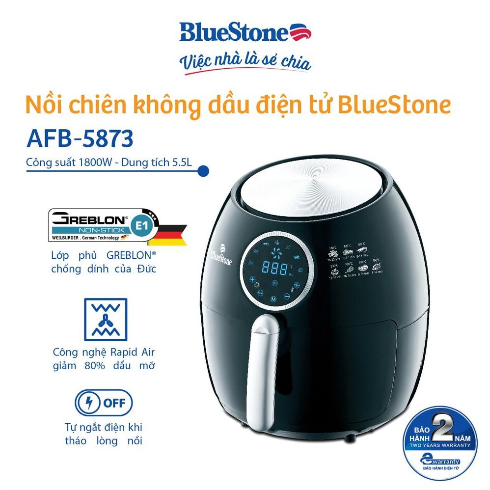 Nồi chiên không dầu điện tử 5.5 Lít BlueStone AFB-5873