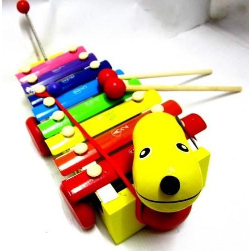 Đồ chơi đàn gỗ hình xe kéo