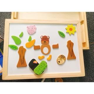 Bộ bảng từ nam châm gỗ cho bé