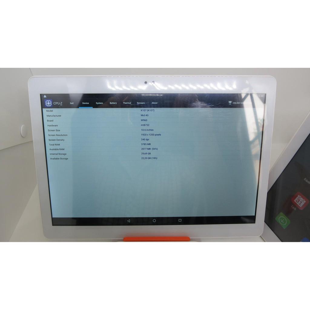 Máy tính bảng MID K107 LCD 10.6 inch, Ram 2GB, Sim 3G Android 7.0