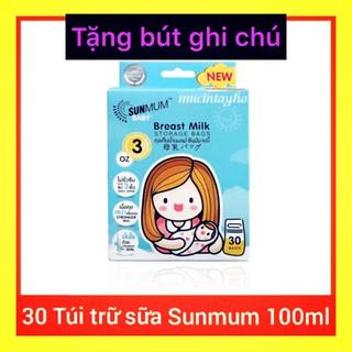 {Siêu hot} [QUÀ TẶNG] Túi trữ sữa SUNMUM 100ml mẫu mới 2019
