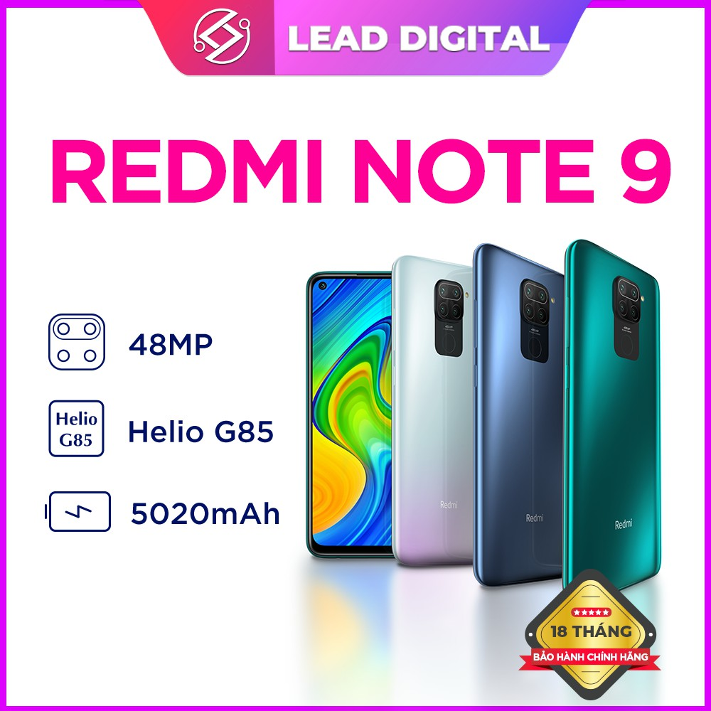 [Mã ELMS03 giảm 7% đơn 500K] Điện thoại Xiaomi Redmi Note 9 4GB/ 128GB-Mới nguyên seal 100%-Bảo hành điện tử 18th
