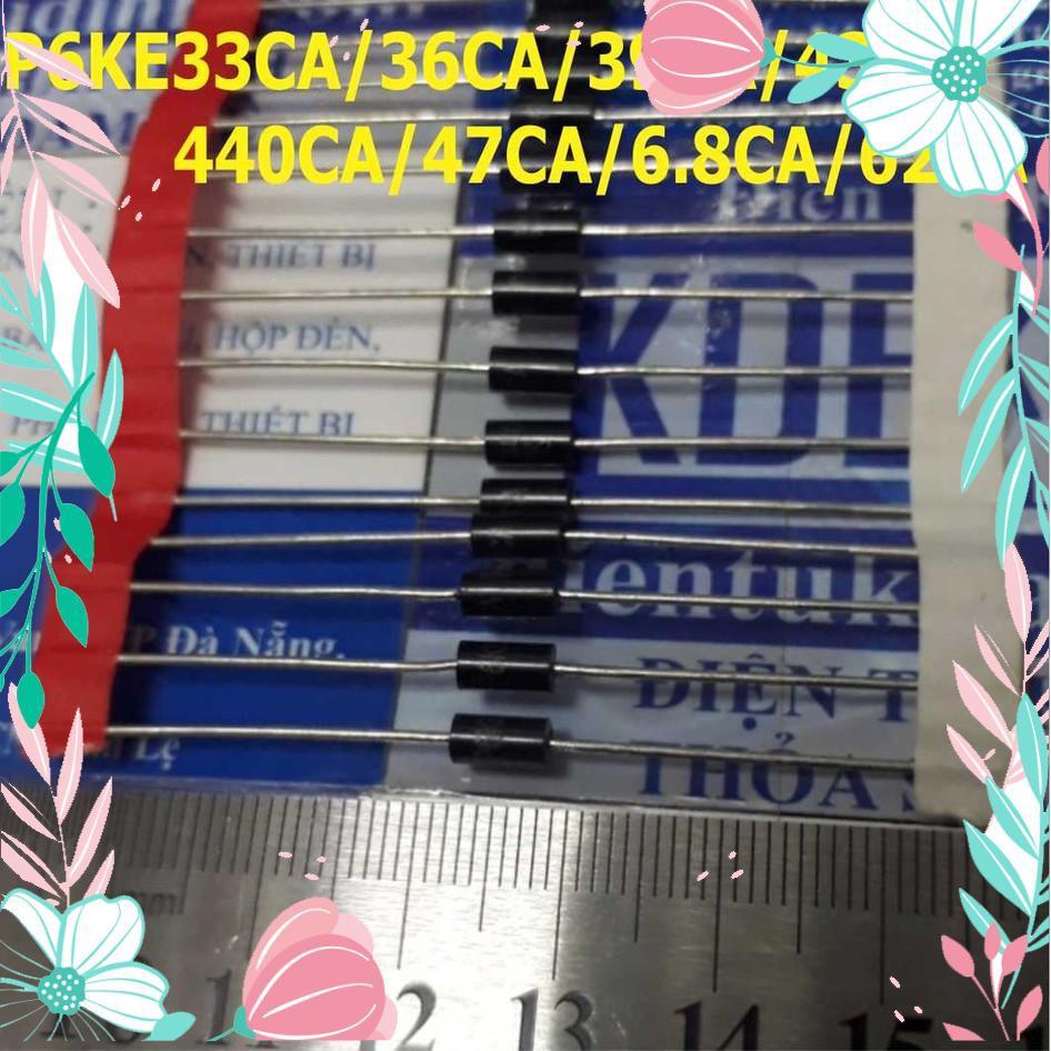 [CỰC HOT] Diode TVS P6KE33CA/36CA/39CA/43CA/440CA/47CA/6.8CA/62CA (giá cho 5 con) kde0748 CỰC HOT.
