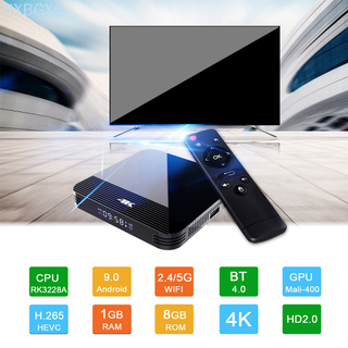 Set-top Box Dual WiFi Bluetooth Media Player Mini Quad-core Smart 4K HD Network TV Box US Plug