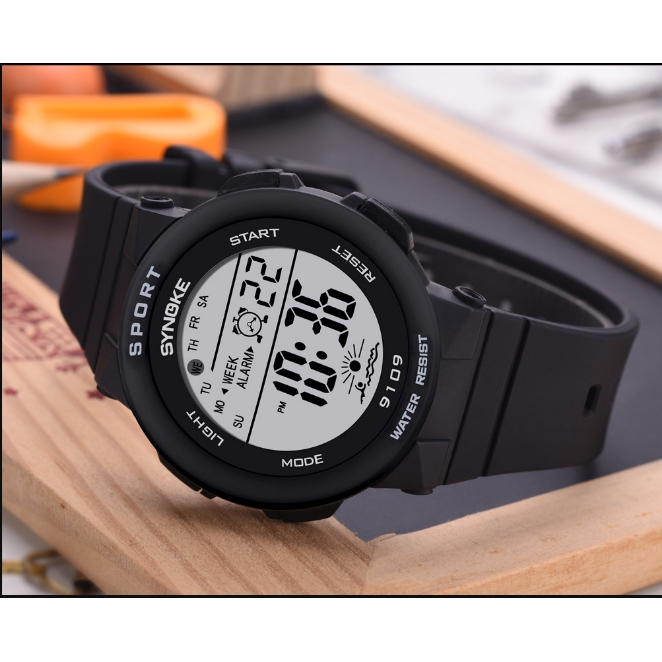 Đồng hồ điện tử nam nữ SYNOKE dây băng Hàn Quốc sang trọng thông minh dễ thương cực xinh siêu đẹp
