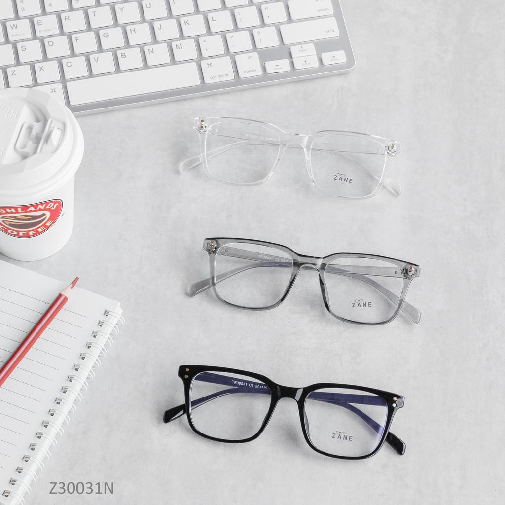 [LẮP SẴN CẬN] – Gọng kính cận nam, mắt kính nam ,kính nhựa dẻo , mắt kính vuông Z30031N
