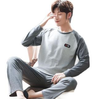 Bộ Đồ Ngủ Tay Dài Vải Cotton Mỏng Thời Trang Cho Nam