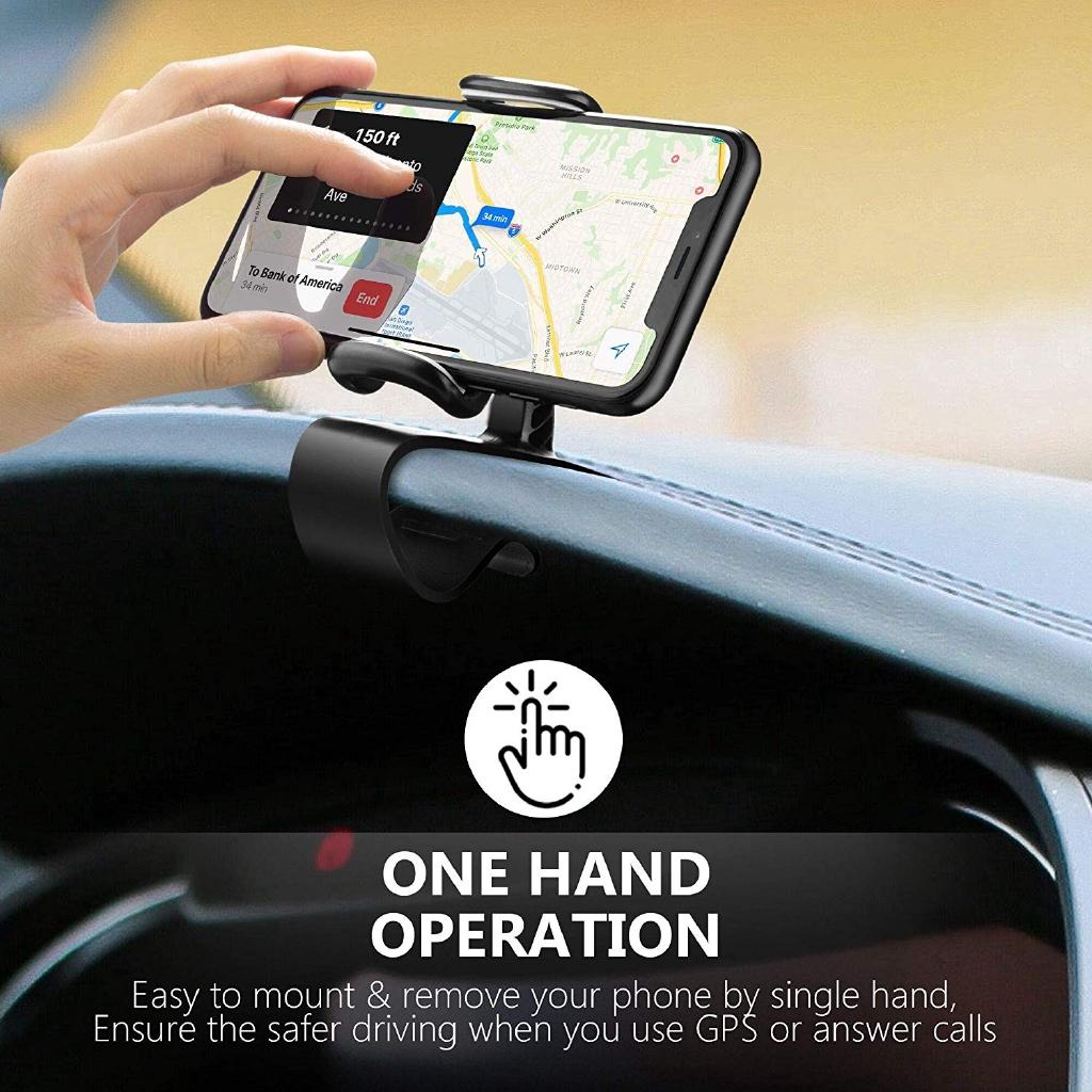 Giá đỡ điện thoại xoay 360 độ gắn bảng điều khiển xe ô tô