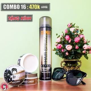 [ Chính Hãng Store ] Combo Sáp Vuốt Tóc Nixtro Wax + Gôm Colmav + Tặng lược Chaobao ( hoặc kính thời trang )
