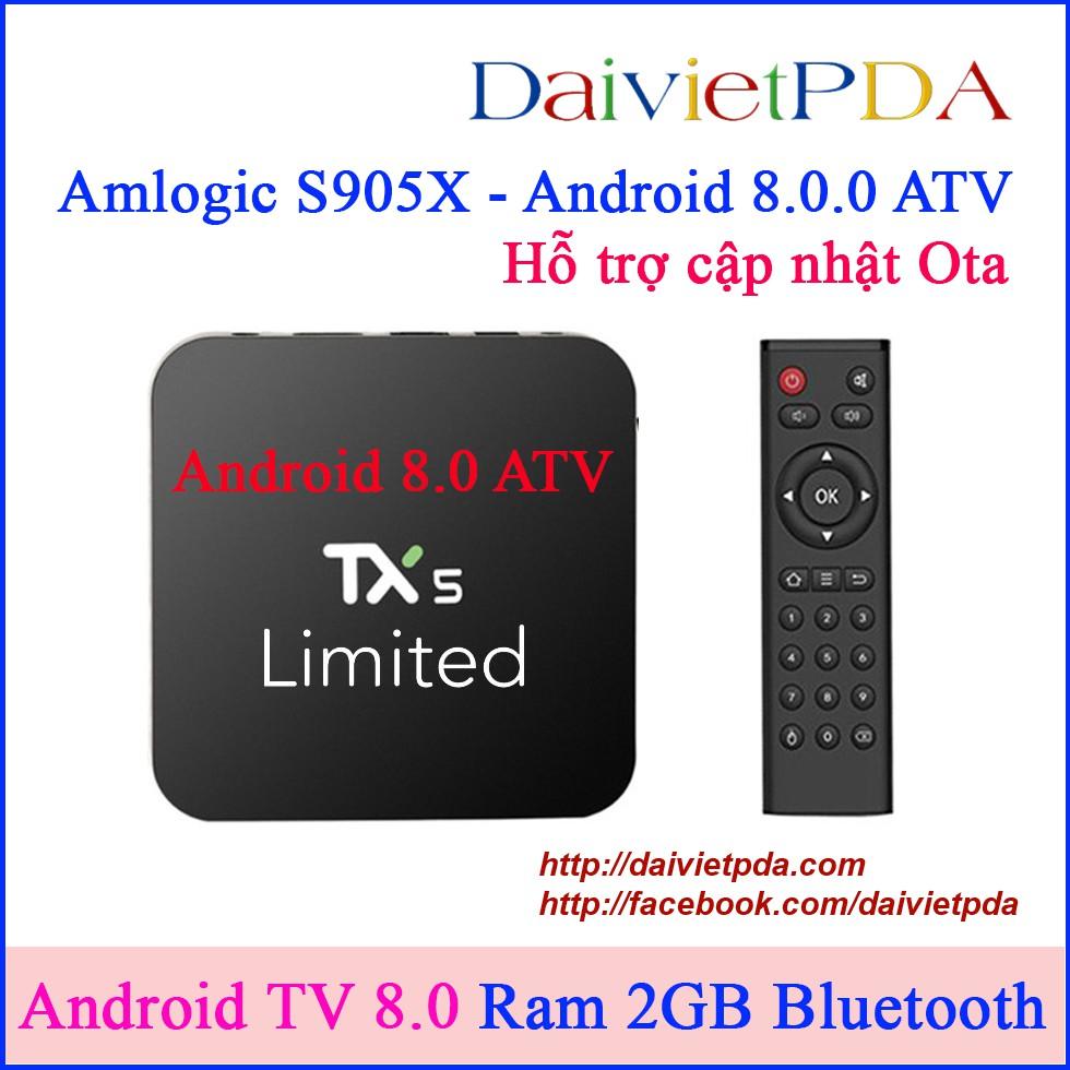Android TV 8.0.0 Oreo ATV | TX5 Limited Android TV Box Amlogic S905X RAM 2GB Bluetooth - 2777565 , 1027285385 , 322_1027285385 , 850000 , Android-TV-8.0.0-Oreo-ATV-TX5-Limited-Android-TV-Box-Amlogic-S905X-RAM-2GB-Bluetooth-322_1027285385 , shopee.vn , Android TV 8.0.0 Oreo ATV | TX5 Limited Android TV Box Amlogic S905X RAM 2GB Bluetooth