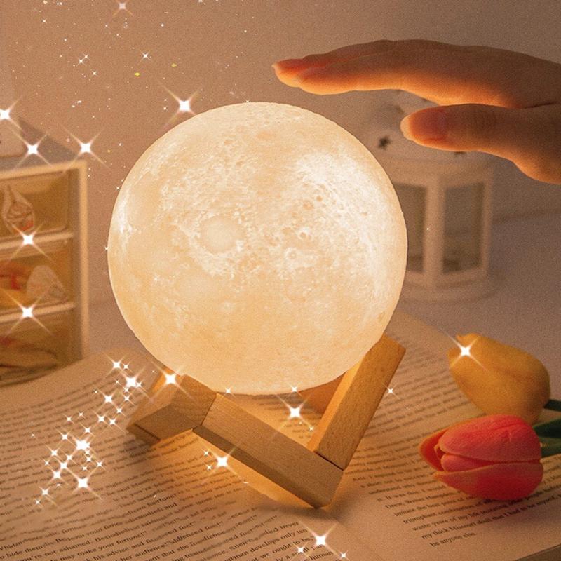 Đèn ngủ hình mặt trăng dễ thương dành cho phòng ngủ bé gái