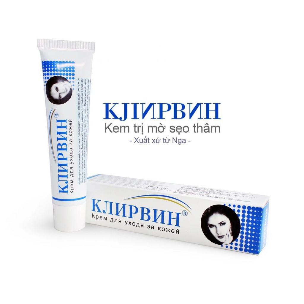 Kem mờ sẹo Klirvin, mờ sẹo lồi, lõm, sẹo thâm chỉ trong 1 liệu trình (cam kết - Nga)