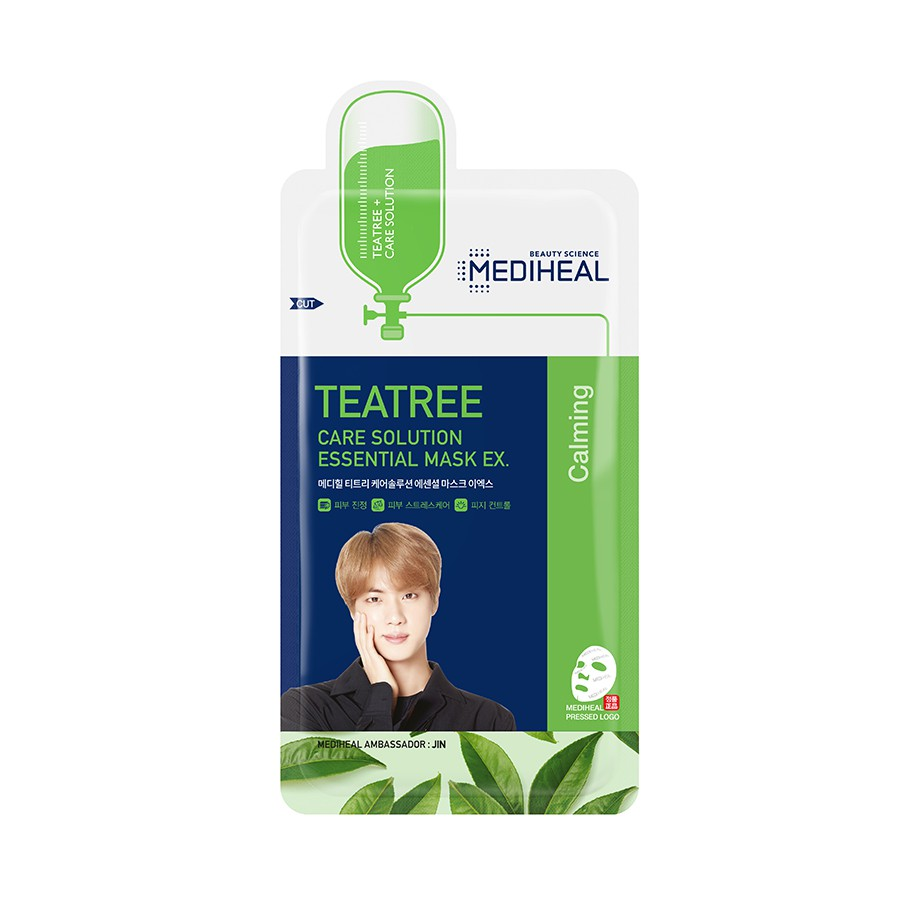 Mặt Nạ Trà Tràm Phiên Bản BTS (Jin) Mediheal Tea Tree Care Solution Essential Mask EX (BTS Version) 24ml
