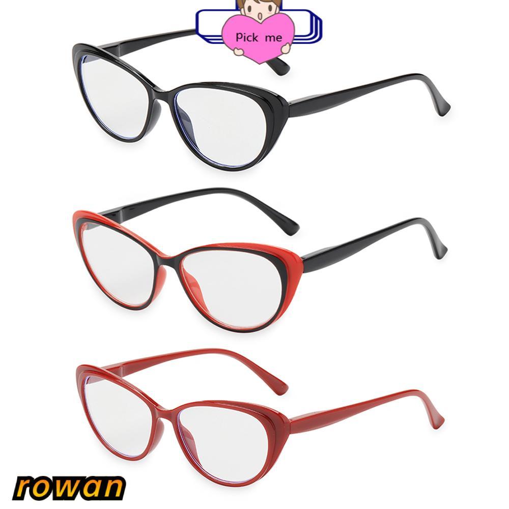 ROW Vintage Reading Glasses Women & Men Spring Hinge Presbyopia Eyeglasses Ultra-clear Vision Round Floral Frame Fashion Anti Glare Readers...