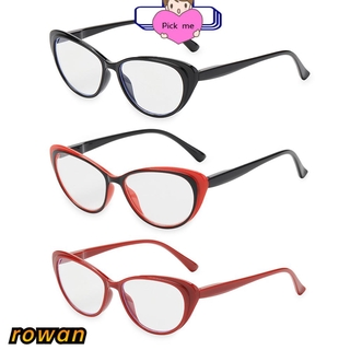 ROW Vintage Reading Glasses Women & Men Spring Hinge Presbyopia Eyeglasses Ultra-clear Vision Round Floral Frame Fashion Anti Glare Readers Eyewear/Multicolor