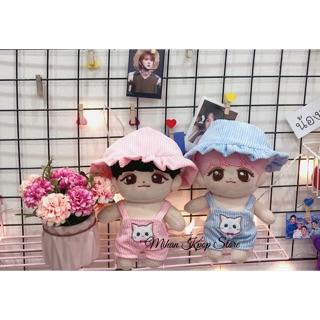 Set mũ + yếm mèo cho doll 20cm