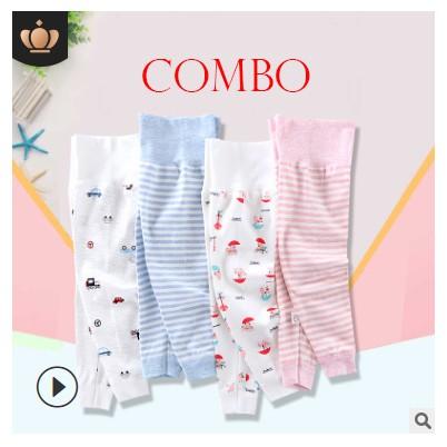 Combo set 4 quần nỉ cạp cao bé gái, bé trai có size cho bé từ 3 tháng tuổi