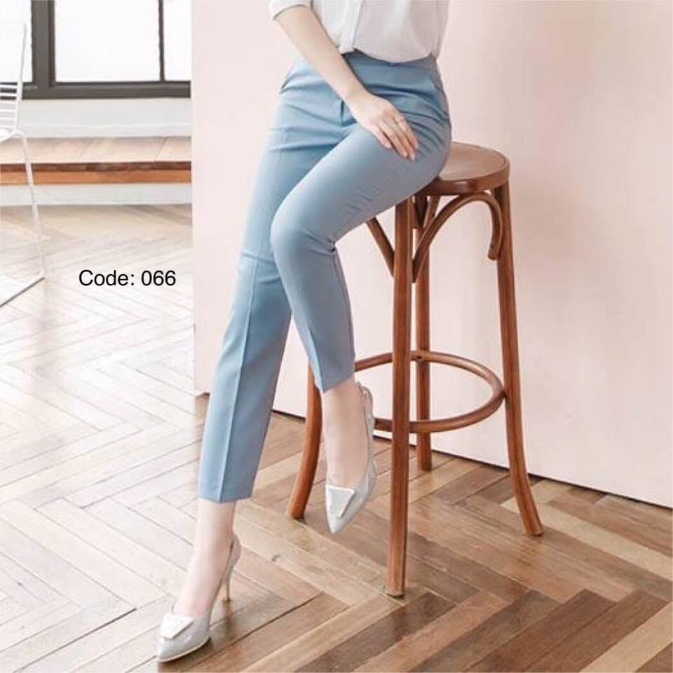 Quần âu nữ vải trượt nhung Hàn đẹp, cam kết chất lượng