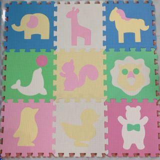Bộ 9 tấm thảm ghép hình thú cho bé