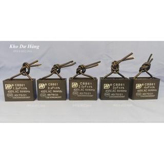 Tụ quạt 400VAC 1,5uf -2uf-2,2uf-2,5uf-3uf-4uf-5uf dùng cho Quạt, máy bơm, đèn… Hàng chính hãng