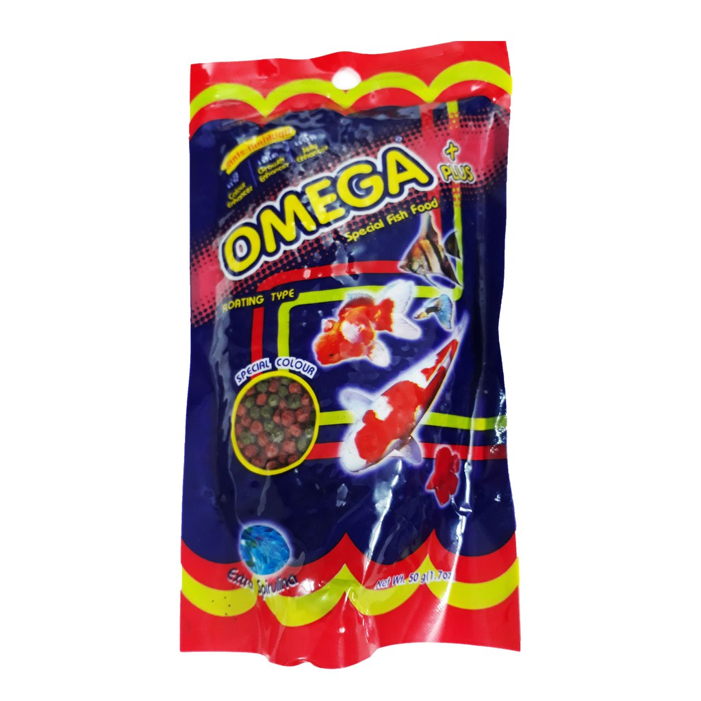Thức Ăn Cá Omega (Viên Vừa) 50g - Cám Cá Cảnh
