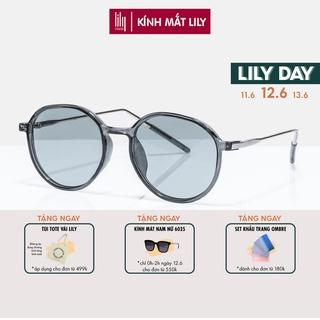 Kính mát nam nữ Lilyeyewear thiết kế mắt tròn dễ đeo, phù hợp với nhiều khuôn mặt - 86210