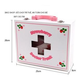 Va li bác sĩ gỗ màu hồng Mother gảden tặng đồ chơi ghép hình