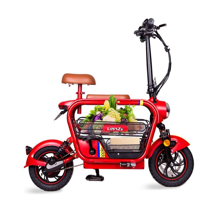 Xe đạp gấp Lihaze Xe điện mini gấp gọn Du Du Thương hiệu nổi tiếng Lihaze Pin Lihium 48v - 20A
