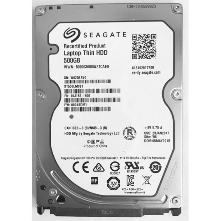 HDD Laptop SEAGATE 500GB/1000GB/2000GB Sata Momentus Thin Slim 7mm chuẩn Sata hàng chính hãng siêu bền bảo hành 12 tháng