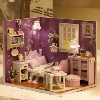 Nhà Búp Bê DIY – Cute Room H-001 ( Tặng Keo + Mica )