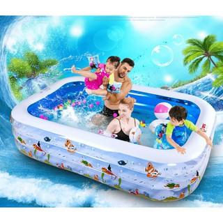 Bể phao bơm hơi cao cấp cho bé tắm ngày hè 1m8- đồ chơi vận động, bể phao hơi cho bé và gia đình chất lượng