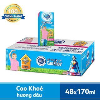 Sữa Tiệt Trùng Cao khoẻ hương dâu (48 hộp x170ml)