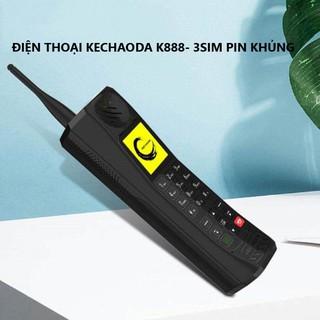 [CHẤT LƯỢNG] Điện thoại Kechaoda K888 Pin khủng – Điện thoại 3 sim- Hàng chính hãng bảo hành 12 tháng