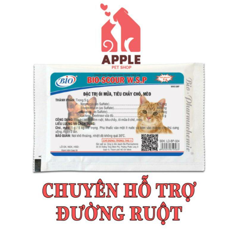 [BIO-SCOUR] [5GR] Hỗ trợ kiểm soát viêm ruột, tiêu chảy, hô hấp trên thú cưng