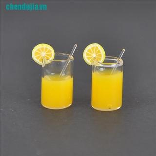 【chendujia】2X Mini Lemon Water Cup Dollhouse Accessories Toy Mini Decor Gift 1