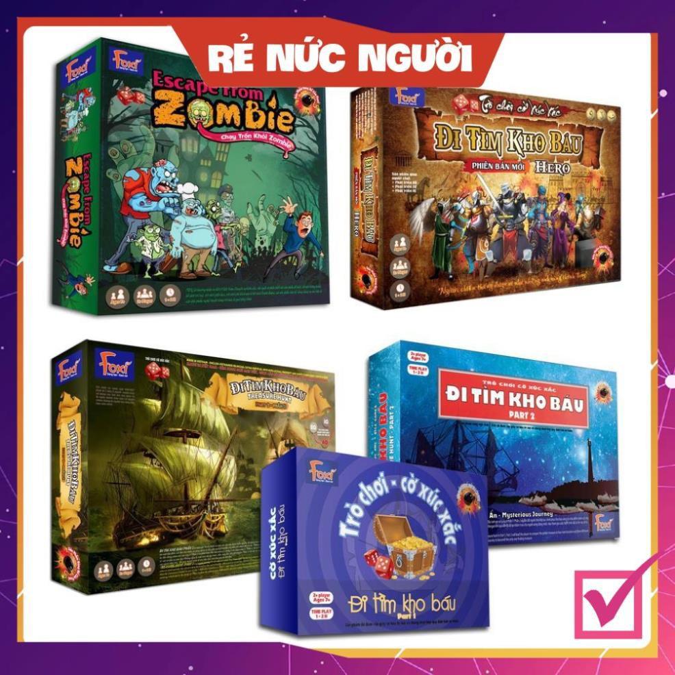 [LẺ=SỈ=SIÊU RẺ] Board game-Escape From Zombie-đi tìm kho báu Foxi-đồ chơi trẻ em-giải trí vừa chơi học và nhiều giá trị.