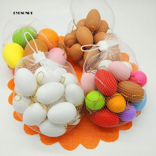 ♕20Pcs Faux Egg DIY Painting Easter Decoration Handcraft Kids Toy Kindergarten