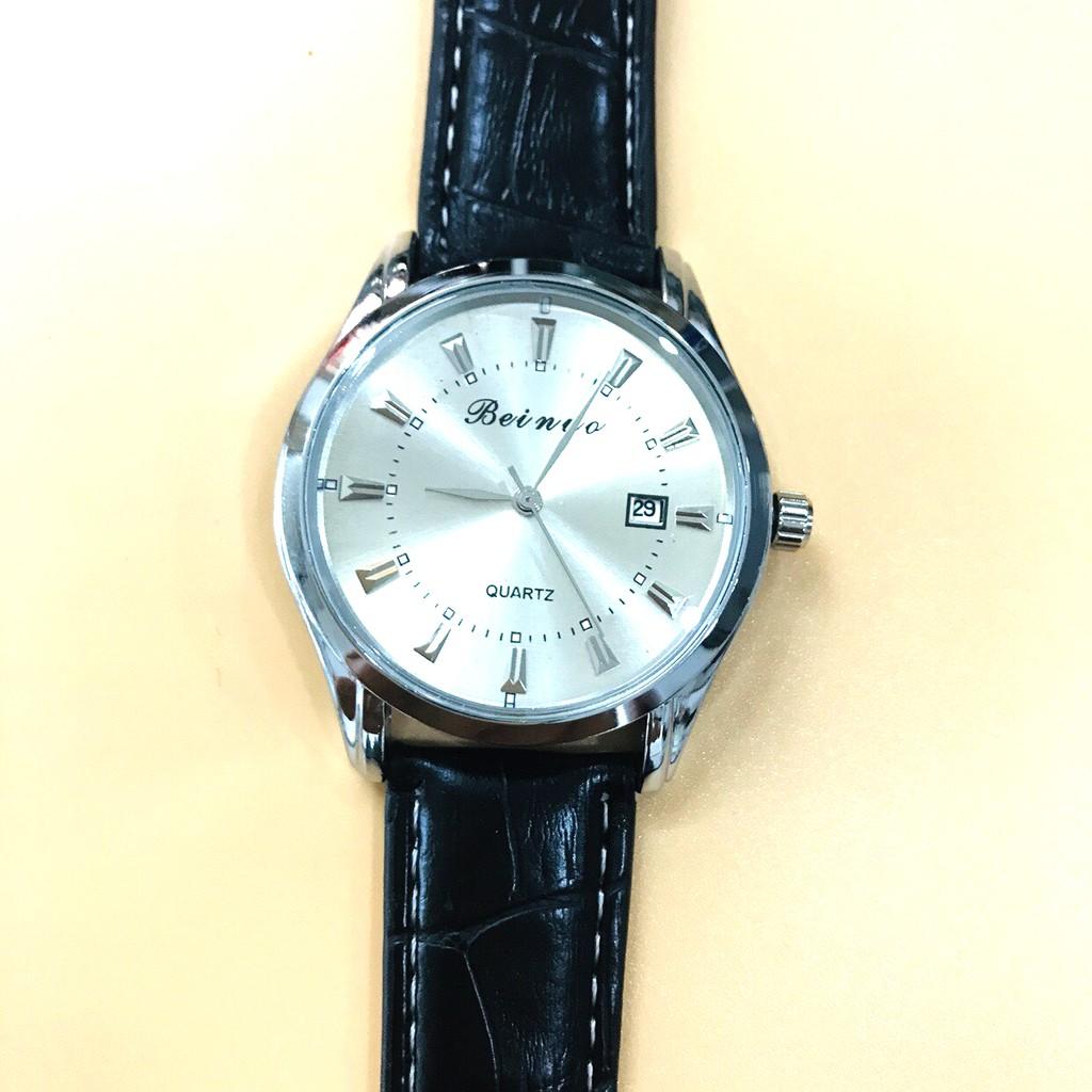 Đồng hồ nam Beinuo dây da thời trang