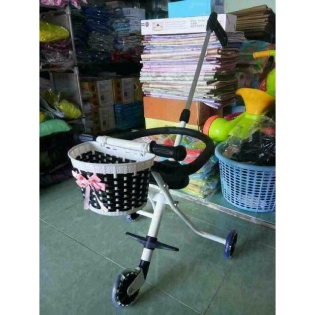 Xe đẩy 3 bánh cho bé xe đẩy siêu thị ba bánh