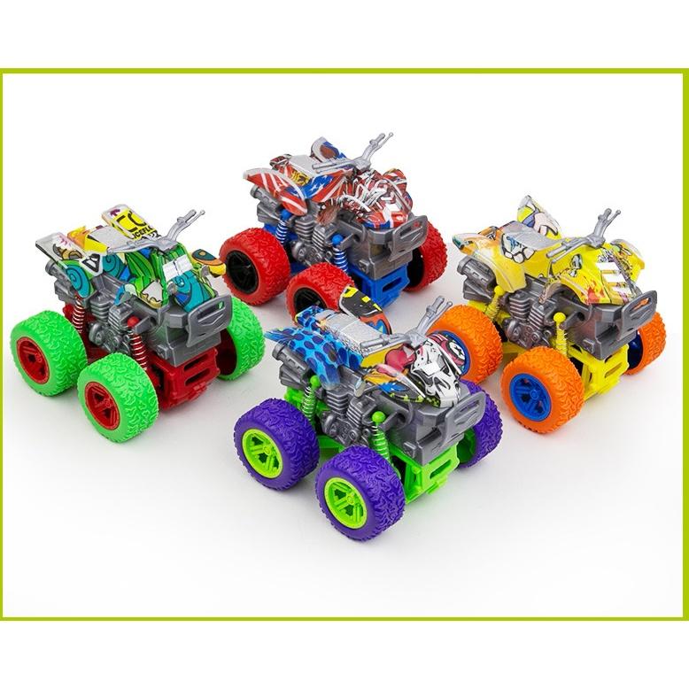 Xe ô tô đồ chơi cho trẻ em chạy bánh đà quán tính vượt địa hình nhào lộn 360 độ BATOVA DX01
